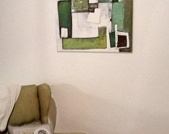 "Acrylic painting ""Quadrate Viridi"""