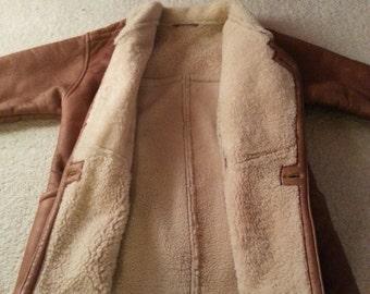 Leather wool coat vintage