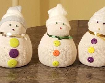 sock snowmans