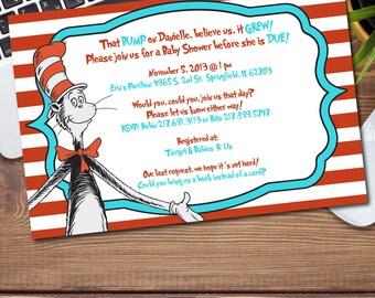 Dr. Seuss Baby Shower Invitation/Announcement