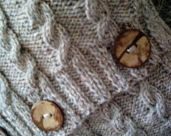 Tweed Herringbone Aran Cushion Set