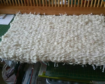 Sari silk recycled Bath Mat