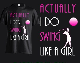 Ladies Golf T Shirt. Show the men who's best!