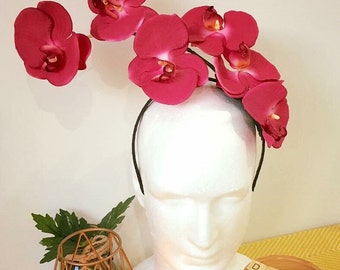 The 'Orchid' fascinator