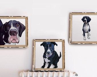 Set of 3 - Custom Dog Portrait Series