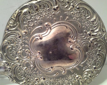 Silver tone hand mirror, silverplated?