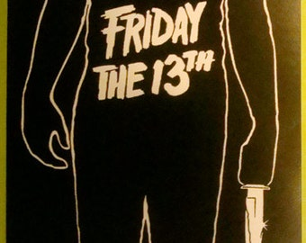 Friday the 13th STICKER - vinyl - Jason Voorhees / Horror / slasher / gore / 80s