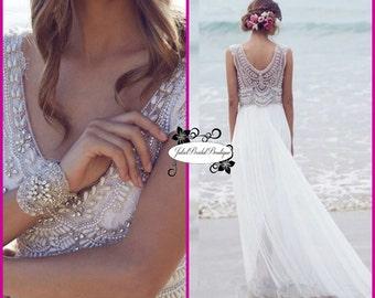 Boho wedding dress,Wedding dress,Bridal gown,Rustic wedding dress,Chiffon dress,Bohemian wedding dress,Boho bridal gown,
