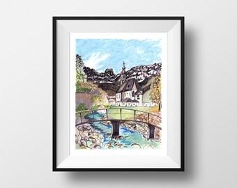 Germany - illustration - giclee print