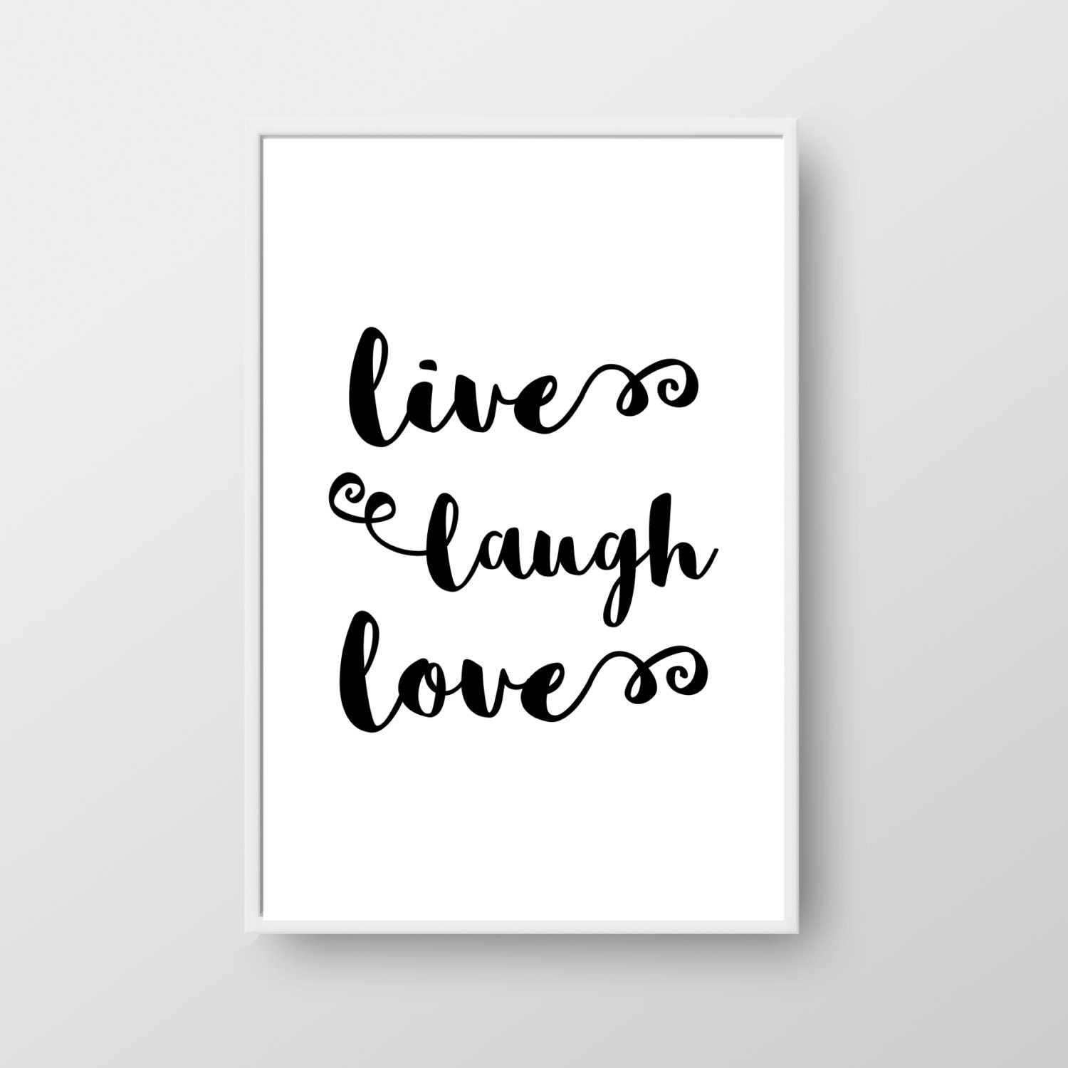 Printable Love Quotes And Sayings: Live Laugh Love Quote Print Printable Love Quote Life Quote