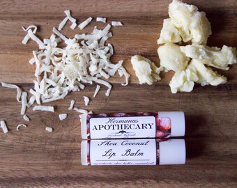 Shea and Coconut Lip Balm - All Natural - Hermanas Apothecary - Hand Poured