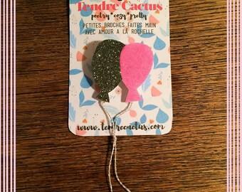 Balloon Duo - brooch - Handmade - La Rochelle