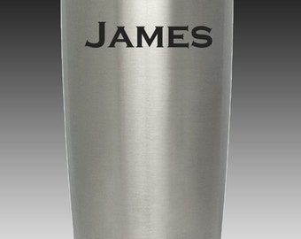 20 oz engraved custom personalized Yeti tumbler cup