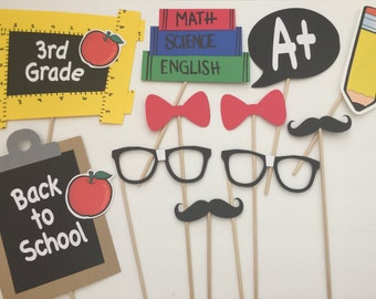 11-pack Back to School Photo Booth Props