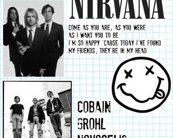 Nirvana inspired stickers