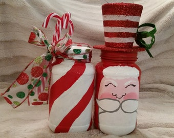 Decorated Christmas Canning Jars - 32 oz