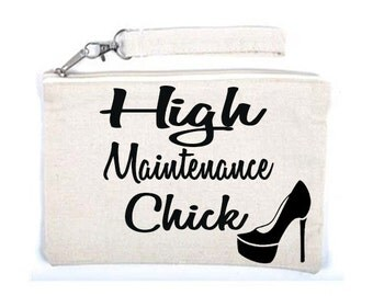 High Maintenance Cosmetic Makeup Bag