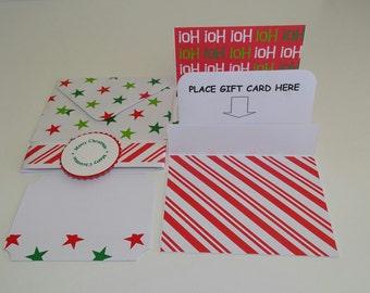 Christmas gift card holder, Christmas gift card sleeve, Christmas money card set, Christmas money card holder, Christmas stationery set