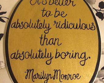 Marilyn Monroe Plaque