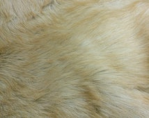 Faux Fur fabric – Camel - Faux Fur Animal - Long Pile Fur Soft and Comfy- Faux Fur Fabric by the 1/4 meter/yard – AF7839