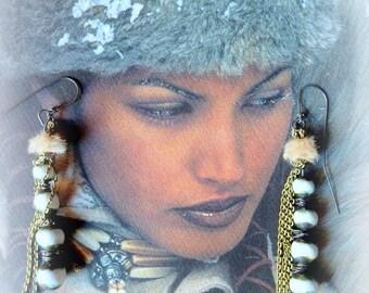 """Beautiful earrings """"Scandinavian charm"""""""