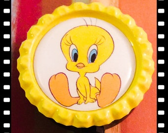 Tweety Bird Retractable ID Reel Name Badge  Pull