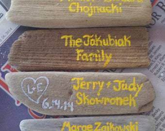 Personalized driftwood magents