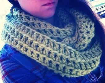 Winter Skies of Galifry Crochet Infinity Scarf  Lavender