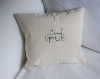 Embroidered bicyle cushion