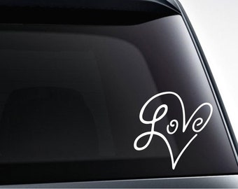 Infinity love heart die cut vinyl decal sticker, car, suv, laptop sticker