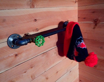 Industrial Coat and Hat Rack