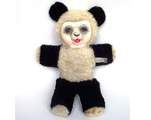 Vintage Panda Bear 1950s Rare Collectable Expert Doll and Toy New York Vinyl Rubber Faced Teddy Well Loved Rare Cute Nursery Baby Unusual