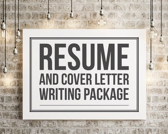 resume and cover letter writing package certified professional resume writer cprw job