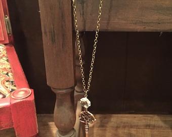 vintage antique brass skeleton key