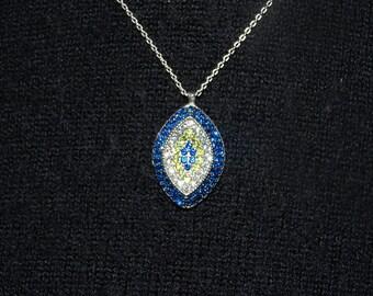 Silver Evil Eye Necklace