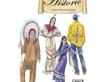 Sewing Pattern for Native American Costumes Men Women,Simplicity Pattern 5446,Halloween Costume,Historic Costumes,Indian Chief,Brave, Maiden