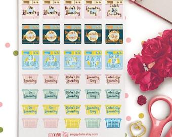 Laundry Day Mini Planner Stickers |  Erin Condren ECLP Life Planner | Washing Day | Laundry Planner Stickers | Laundry Stickers