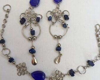 Peruvian handmade Bracelet and earrings to match.