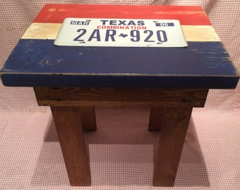 Texas License Plate Table