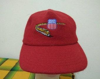 Rare Vintage UNION PACIFIC RAILWAYS Cap Hat Free size fit all