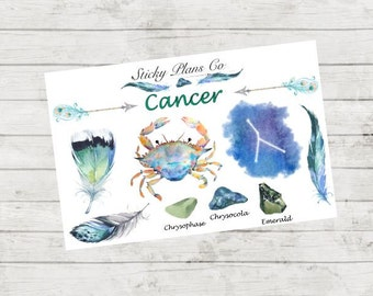 Cancer Zodiac Sign Stickers
