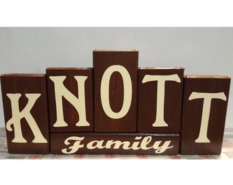 Personalized Family Name Wood Block Set