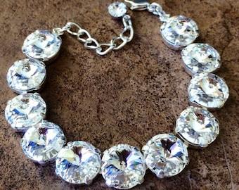 SELECT YOUR COLOR 12mm Swarovski crystal bracelet
