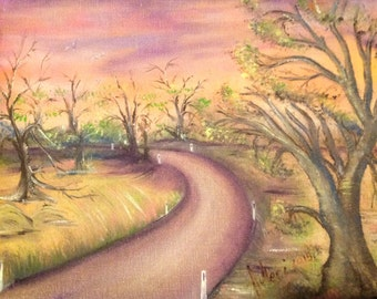 Original #oil painting, Into the trees, Dream, #Fantasy,