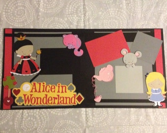 Alice in Wonderland 2 Page 12x12 Scrapbook Layout