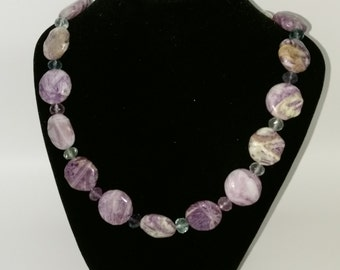 Fluorite Necklace with sterling silver