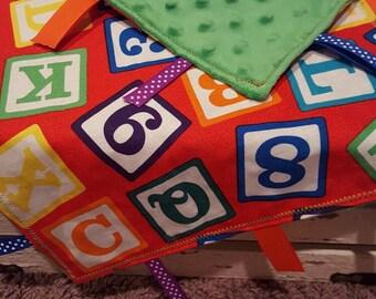 Blocks Sensory Blanket - Lovey