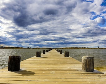 Beautiful Clouds and Long Dock