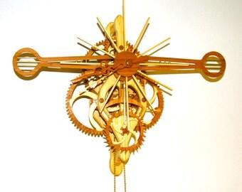 Wood Gear Skeleton Clock