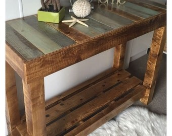 Rustic consol table, Furniture , Side Table , Entry Table , Foyer Table